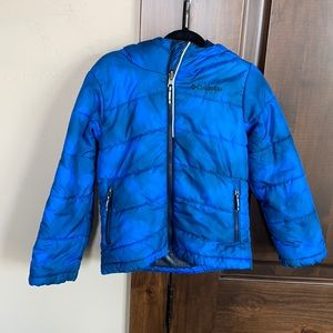 Columbia boys jacket- blue and black-S (6/7)